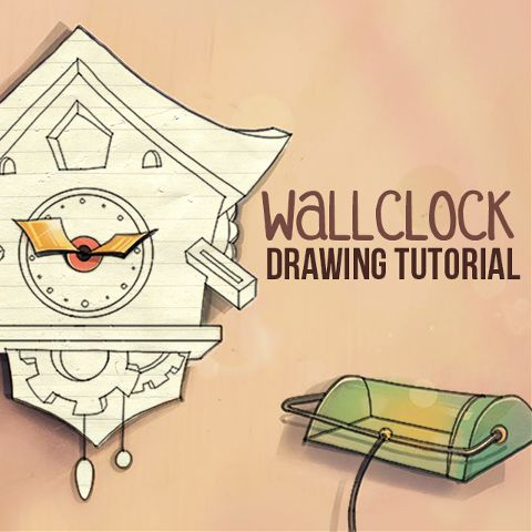 how to draw a wall clock