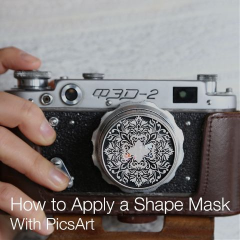 how to apply shape mask with PicsArt