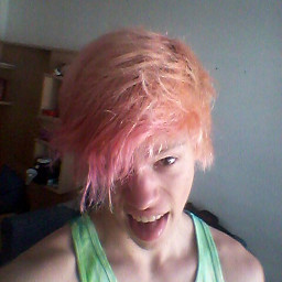 me pink hair rainbow dropdead freetoedit