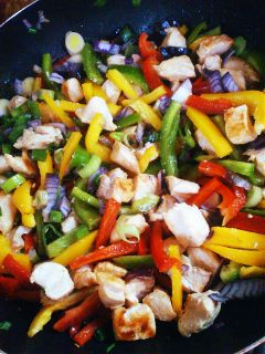 food vegetables wok colorful