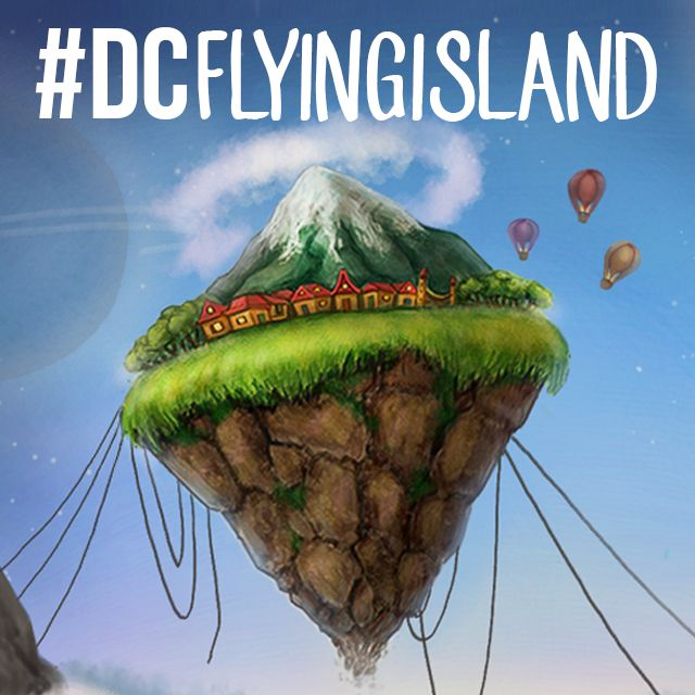 flying island drawing contest