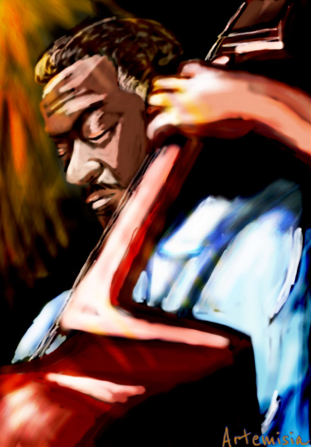 #dcstreetmusician #drawing #art #music #blackpeople #jazzman    Full immersion in music is possibile everywhere