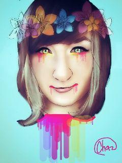 gdflowercrown artisticselfie