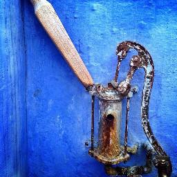 blue abandoned