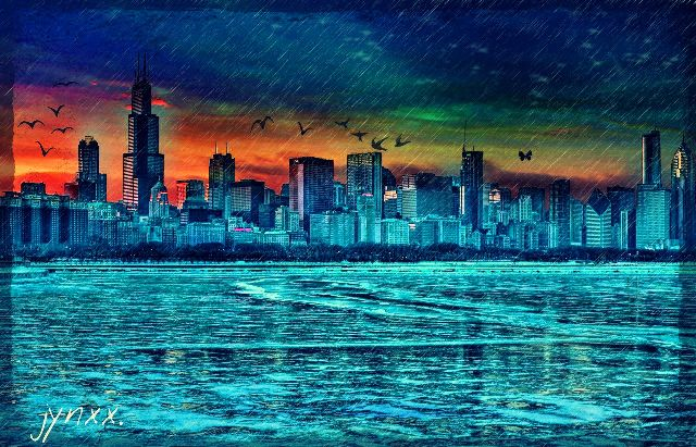 Chicago skylines #freetoedit