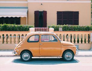 car beatle summer street sun