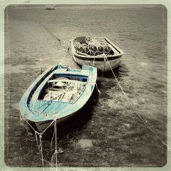 oldphoto retro vintage blue boat