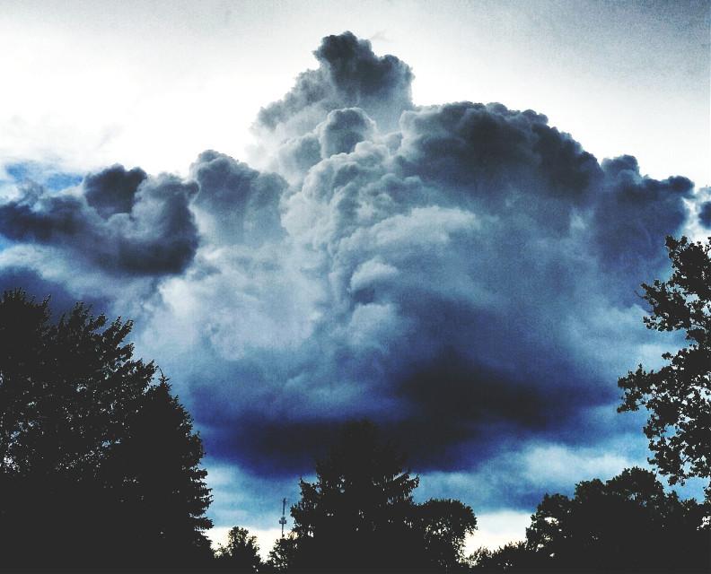 #clouds #sky #summer #rain #nature #dramaeffect #trees