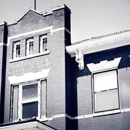 building smalltown kansas blackandwhite architecture