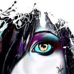 interesting drawing painting doubleexposure editstepbystep effect vibrant colorful