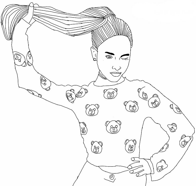 ariana grande coloring pages - ariana grande outline outlines tumblr