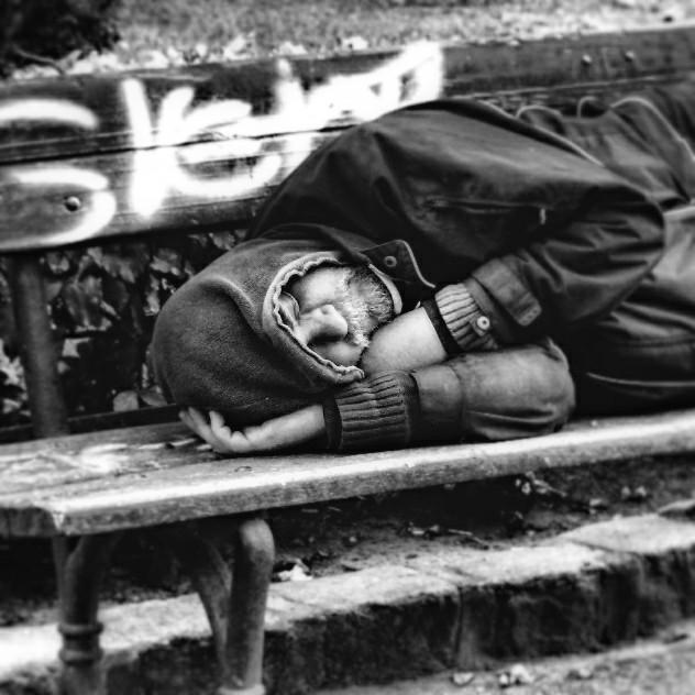 Homeless man  #people  #emotions  #blackandwhite