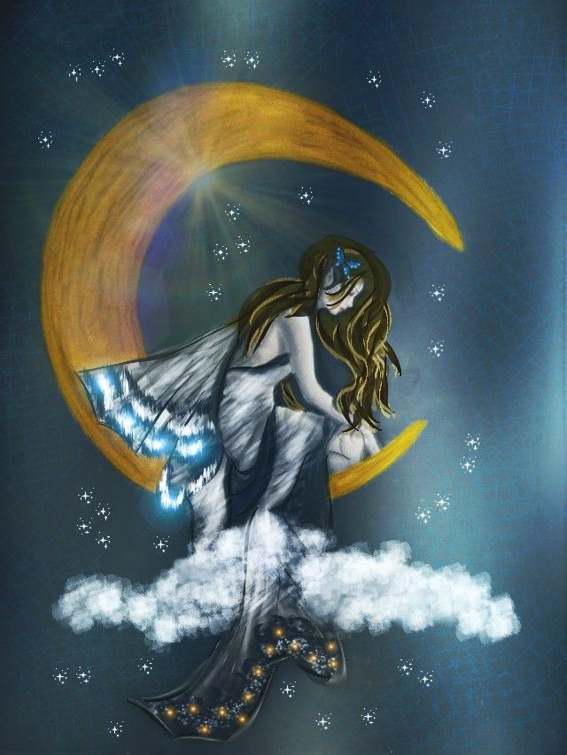 #dcmagic #dcnightsky #drawing #myart #moon voted if you like it:) Thank you so much my dear friends :) ♥ Hugs .... good luck :)   nice evening my dear friends :) ♥ and later sweet dreams. ♥♥