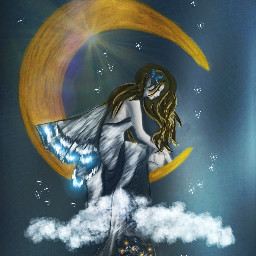 dcmagic dcnightsky drawing myart moon