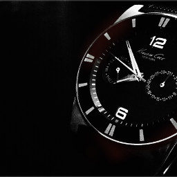 clock blackandwhite blackandblack watch dpctime pcwatches freetoedit