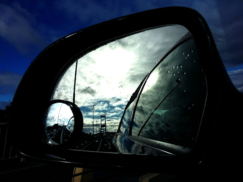#colorful #colorsplash #love #photography #retro #travel #summer #white #dark #photoshop #black #cars #Severncrossing #bridge #reflection