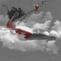 levitation WAPlevitate freetoedit beautifypicsart fantasy illustration clipart Picsart girl Saturated dreamscape