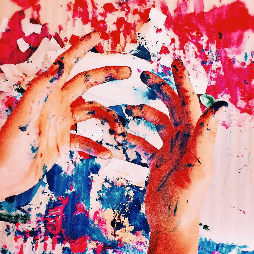 #me #self #paints #afterwards #works #interesting #fun #iphoneography #hands