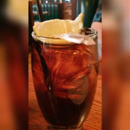 drink lemon ice coke thirsty